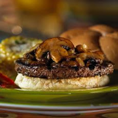 Portobello Mushroom and Onion Burger Topping