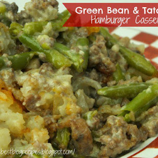 Green Bean & Tator Tot Hamburger Casserole