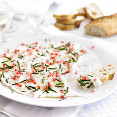 Creamy Goat's Cheese With Chive & Pomegranate