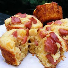Corn Bread Muffins with Hot Dogs