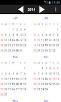 Screenshot of Malaysia Holiday Calendar 2015
