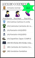Screenshot of My Clothes