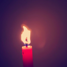Candle by Bharath Kumar - Abstract Fire & Fireworks ( fire,  )
