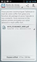 Screenshot of Mon COFFRE-FORT