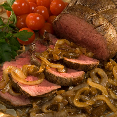 Roasted Beef Tenderloin With Balsamic Sauce