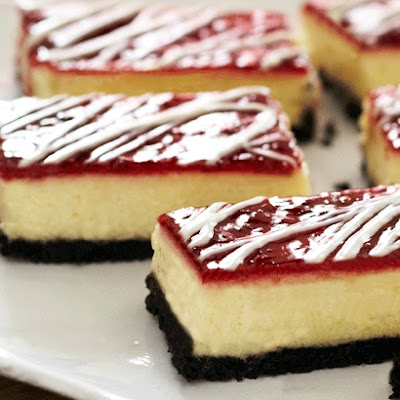 OREO White Chocolate Raspberry Cheesecake Bars