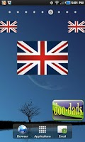 Screenshot of British Flag doo-dad