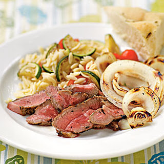 Lamb Steaks with Herbes de Provence and Grilled Sweet Onions