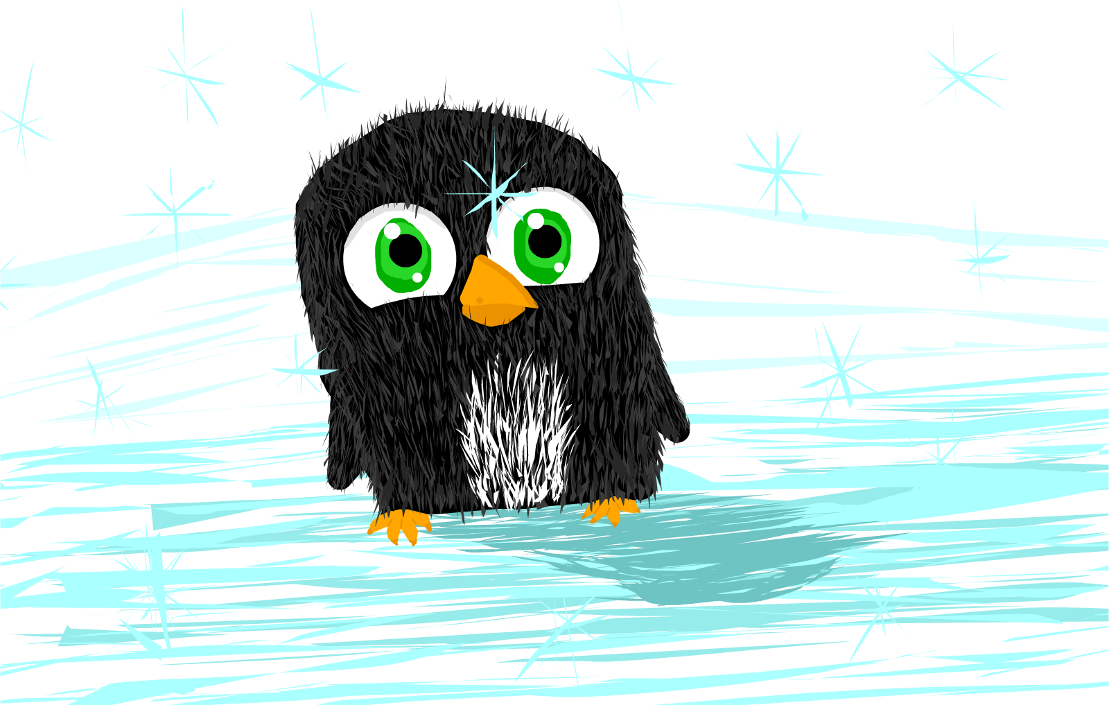 It's Winter!  Draw an Animal That Likes the Cold