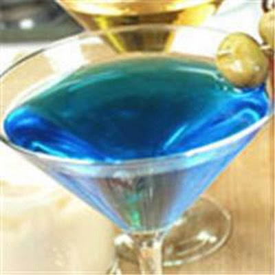 Blue Vodka Martini