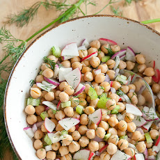 Chickpea Salad with Roasted Lemon Vinaigrette