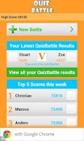 Screenshot of Quiz Battle
