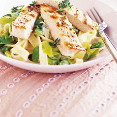 Creamy Turkey, Broad Bean And Leek Tagliatelle