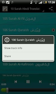 10 Surah Hindi Translation - screenshot