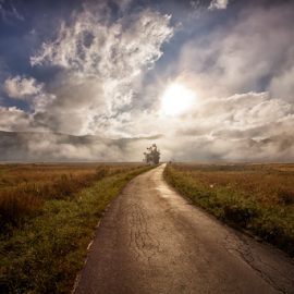 Early morning by Stanislav Horacek - Landscapes Prairies, Meadows & Fields