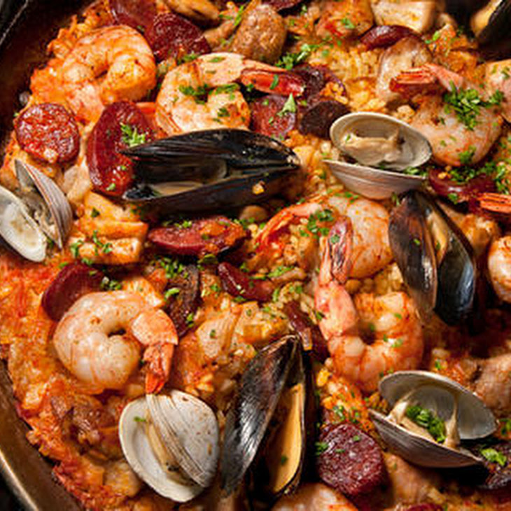 Frying Pan Paella Mixta (Paella With Seafood And Meat) Recipes ...