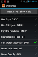 Screenshot of WellFinder