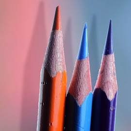 blue orange by Nami Iman - Artistic Objects Other Objects ( blue, pencil, object )