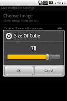 Screenshot of Sai Baba Cube Live WallPaper