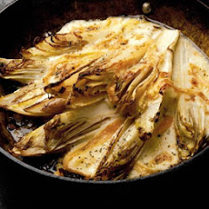 Wilted Chicory With Melted Taleggio Cheese