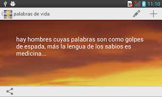 Screenshot of Palabras de Vida