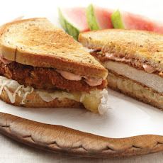 Rubbed Chicken Reuben Sandwiches