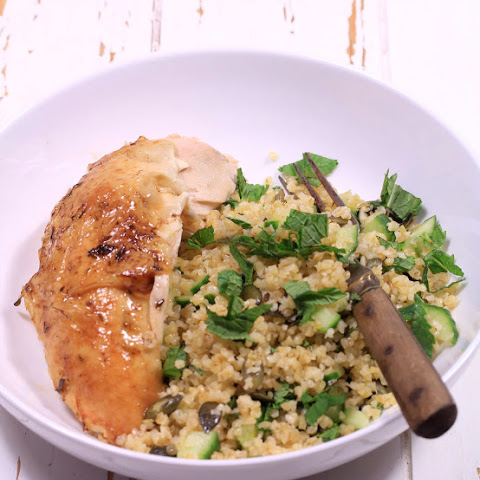 Chicken with Lemon and Warm Bulgur Salad with Thyme