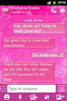 Screenshot of GO SMS Theme Pink Star