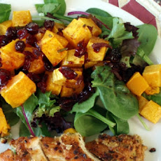 Warm Green and Yellow Squash Salad With Cranberry Vinaigrette