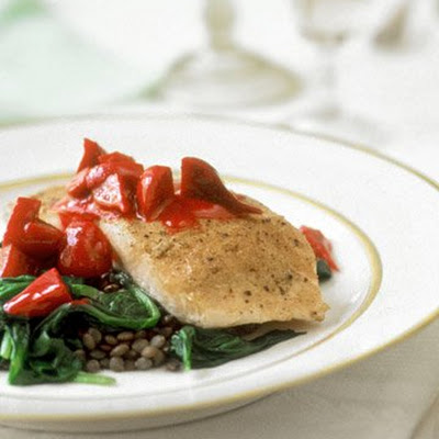 Salmon with Beets and Lentils