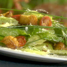 Romaine Salad with Homemade Croutons and Lemon Vinaigrette