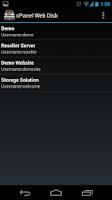 Screenshot of cPanel Web Disk