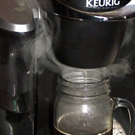 Steaming Goodness by Catherine Melvin - Food & Drink Alcohol & Drinks ( hot drink, coffee maker, coffee, steaming, keurig )