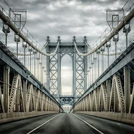 Manhattan Bridge by Linda Karlin - Buildings & Architecture Bridges & Suspended Structures ( nyc, architecture, bridges,  )