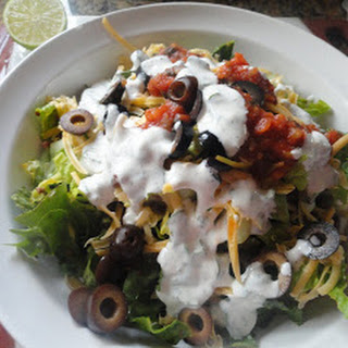 Taco Salad With Cilantro-Lime Ranch
