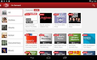 Screenshot of ETV Chromecast