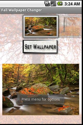 Fall Themed Wallpaper Changer
