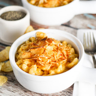 Creamy Macaroni & Cheese with Potato Chip Crust