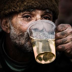 Cheers! by MIhail Syarov - People Portraits of Men ( wine, drink, beard, portrait, man )