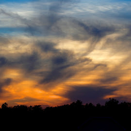 Evening Sky by Shawn Klawitter - Landscapes Sunsets & Sunrises ( orange, sky, sunset, weather, evening )