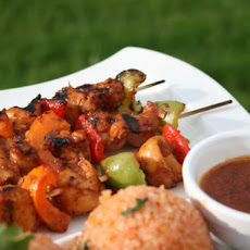 Iron Springs Honey-Chipotle Glazed Chicken Skewers
