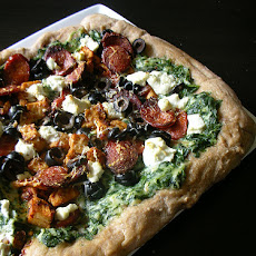 Greek-Style Spinach Pizza With Phyllo Crust