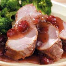 Orange Cranberry Glazed Pork Tenderloin