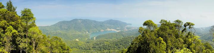 Teluk Bahang Dam from Laksamana Hill