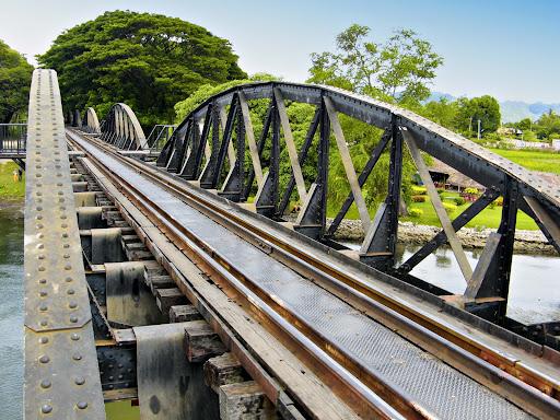 Original span of steel bridge