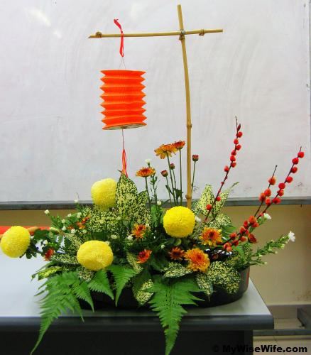 Floral Arrangement theme - Mid Autumn Festival