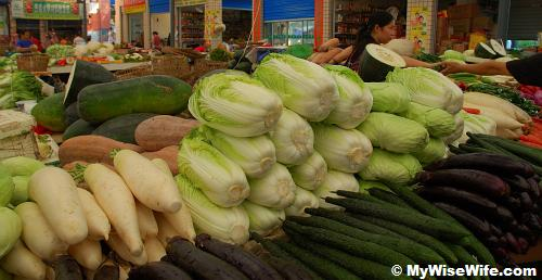 Vegetables in market