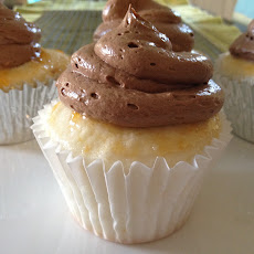 Orange Angel Food Cupcakes With Chocolate Orange Buttercream