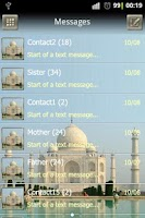 Screenshot of Taj Mahal GO SMS Pro theme