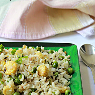 Baby Corn And Green Peas Rice